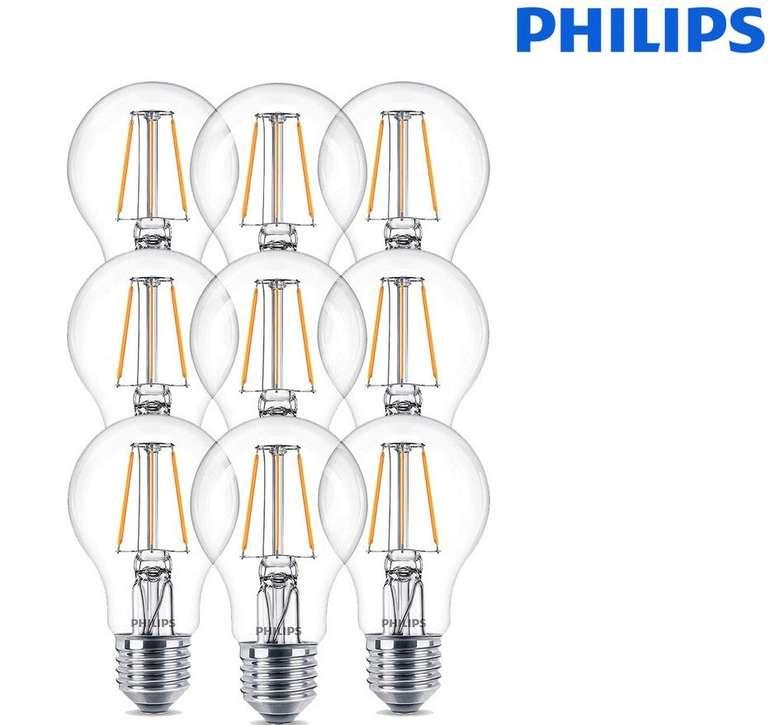 9x Philips LED-Birnen Vintage (4,3W, E27 Fassung) für 18,90€ (statt 29€)