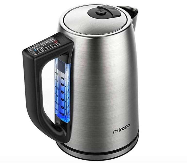 Miroco - 1,7 Liter Wasserkocher mit 2000 Watt und LCD Anzeige für 29,59€
