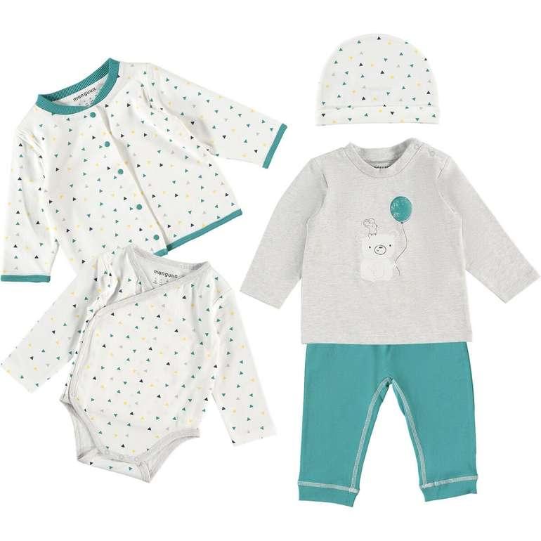 5-teiliges manguun Baby Bekleidungs-Set für 18,54€ (statt 29€)