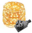 10m LED Lichterkette 100 LEDs Kupferdraht (Wasserdicht, warmweiß) für 7,59€