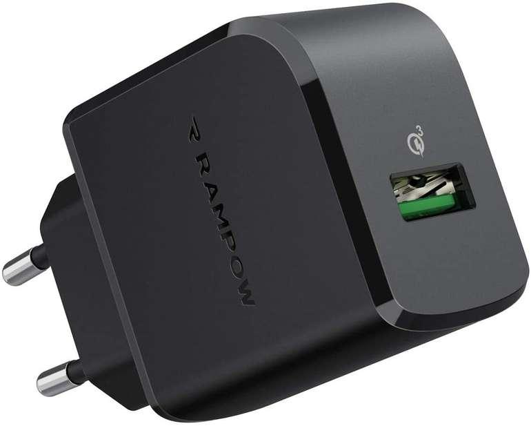 Rampow 19,5W USB Ladegerät für 6,08€ inkl. Prime Versand (statt 13€)