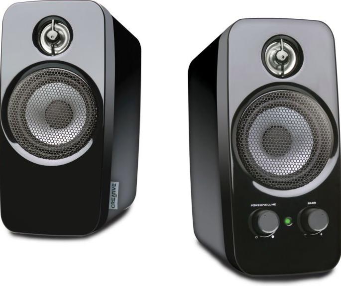 Creative Inspire T10 2.0 PC-Lautsprecher (10 Watt, 3,5mm Klinke) für 31,99€