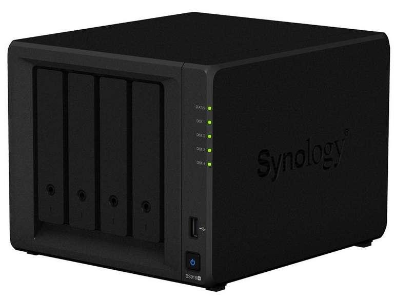 Synology DS918+ 4 Bay DiskStation NAS-Server (Leergehäuse für Festplatten) je 465,67€ (statt 509€)