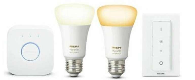 Philips Hue White Ambiance mit 2x E27 Lampe, Bridge & Dimmschalter für 59,90€ inkl. Versand