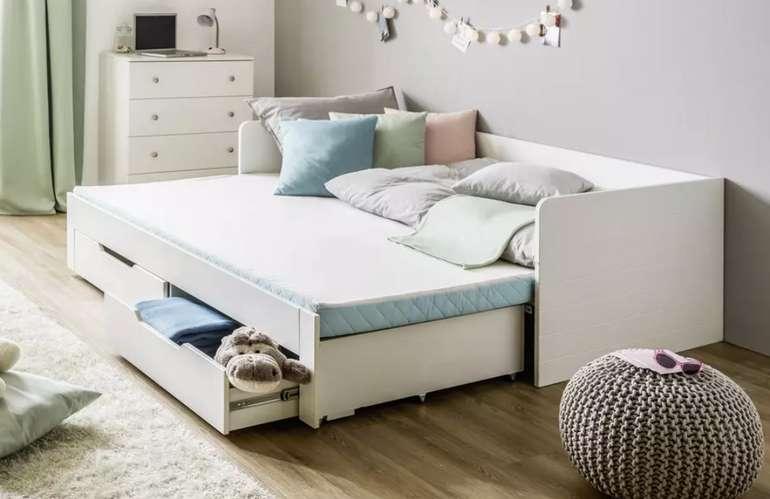 Zandiara Ausziehbett in Weiß (90 x 200 cm) für 348,95€inkl. Versand (statt 458€)