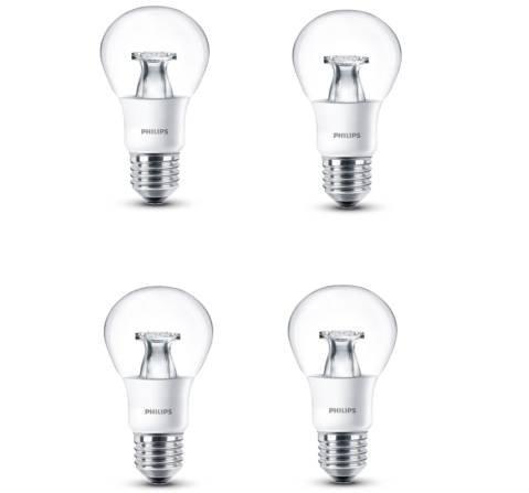 4er Pack Philips LED-Glühbirnen (E27, 6W) für 8,49€ inkl. Versand