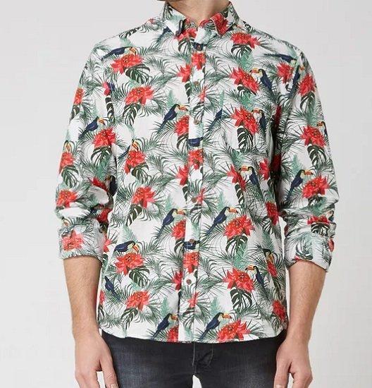Montego Regular Fit Freizeithemd aus Baumwolle mit Allover-Muster für 6,99€ (statt 20€)