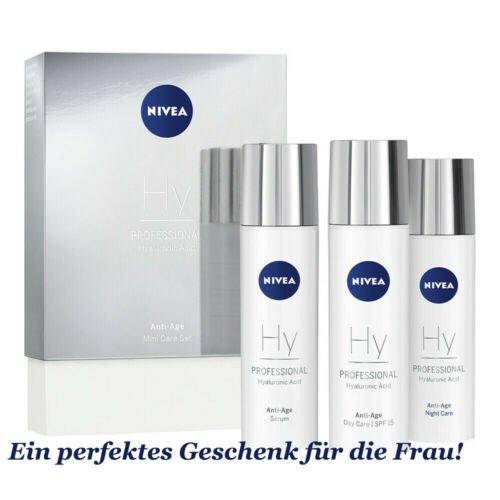 2x 3-tlg. Nivea Professional Test-Set: Tester Hyaluron Tages- & Nachtpflege & Serum für 19,99€ inkl. Versand