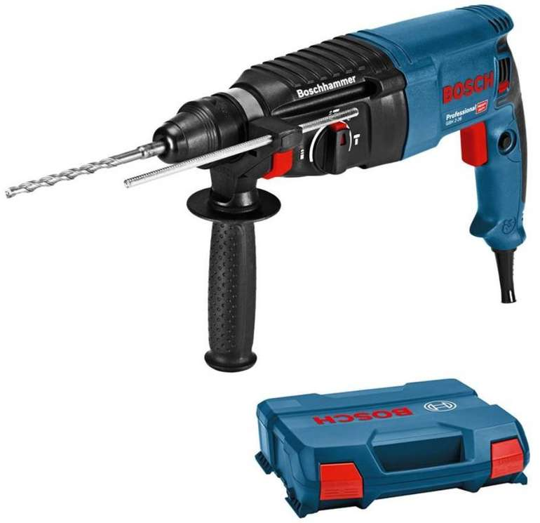 Bosch Bohrhammer GBH 2-26 Professional SDS-Plus + L-Case Koffer für 89,99€