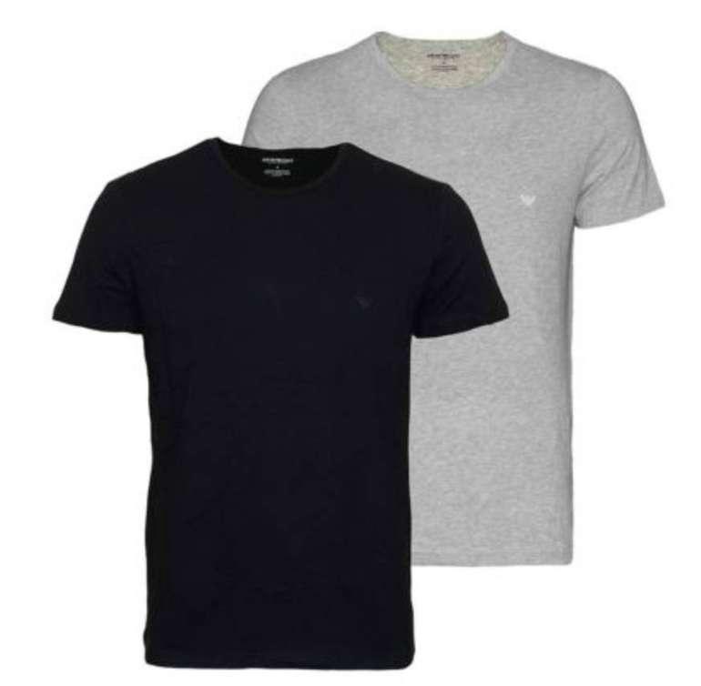 2er Pack Emporio Armani Basic Herren T-Shirts (V-Neck & Rundhals) für 34,99€