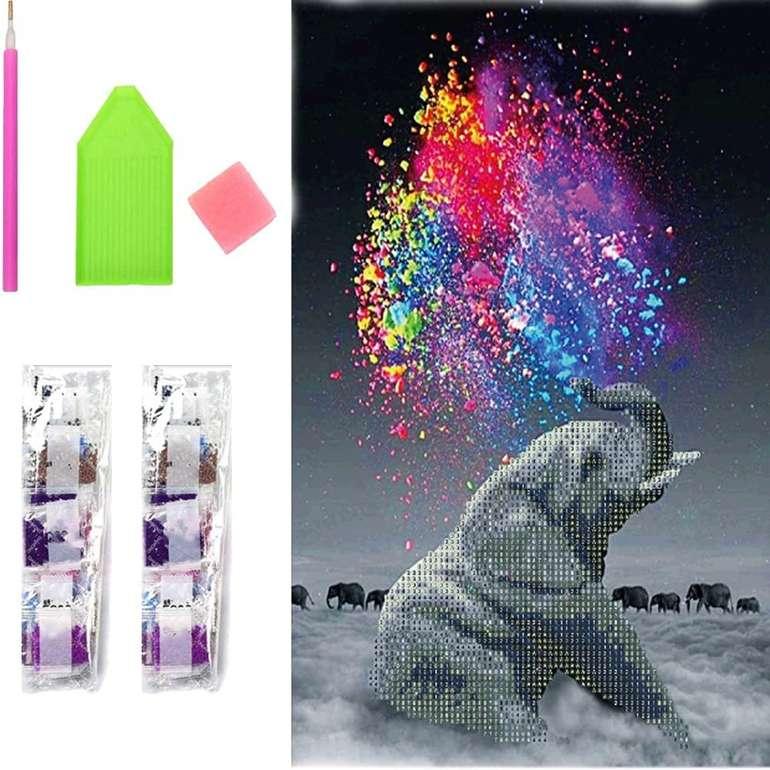 SSXX 5D Diamond Painting Sets bei Amazon reduziert, z.B. der Elefant für 5,99€ inkl. Prime Versand