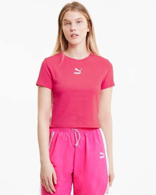 Puma Classics Cropped Damen Kurzarm-Shirt für 11,96€ inkl. Versand (statt 15€)