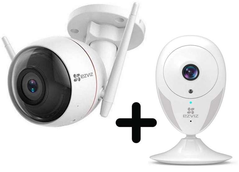 Bundle: EZVIZ Überwachungskamera außen + Überwachungskamera innen für 59,99€ inkl. Versand (statt 90€)