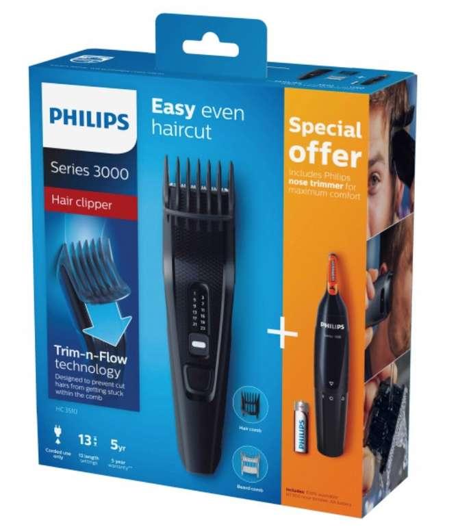 Philips HC3510/85 Series 3000 Haarschneider Set mit Nasenhaartrimmer für 24,94€ inkl. Versand (statt 30€)