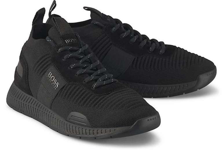 Boss Titanium Runn Herren Sneaker in schwarz für 78€ inkl. Versand (statt 159€)