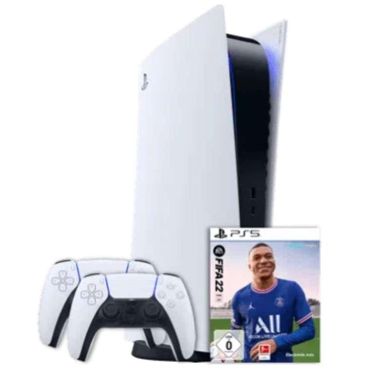 Sony PlayStation 5 mit Laufwerk + 2. Controller + Fifa 22 (1€) + o2 Allnet-Flat mit 20GB LTE/5G für 49,99€ mtl.