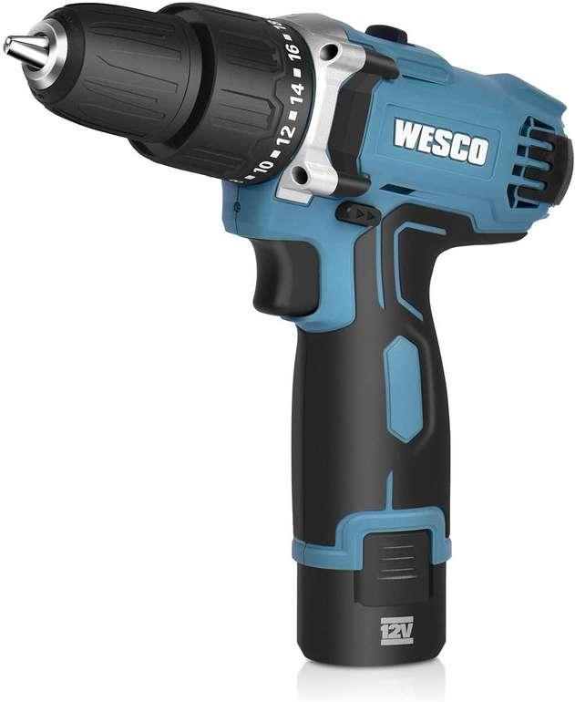 Wesco 12V Akkubohrschrauber mit LED Licht & 1,5 Ah Li-Ion Akku für 34,99€ inkl. Versand