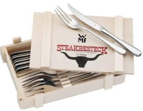 12 teiliges WMF Steakbesteck in Holzkiste für 24,90€ inkl. Versand (statt 29€) - B-Ware!