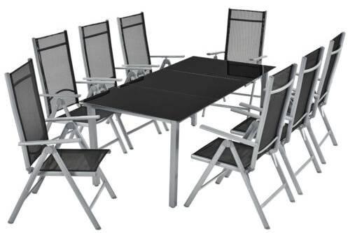 ArtLife Aluminium Essgruppe bestehend aus 8 Stühlen und 1 Tisch für 279,95€