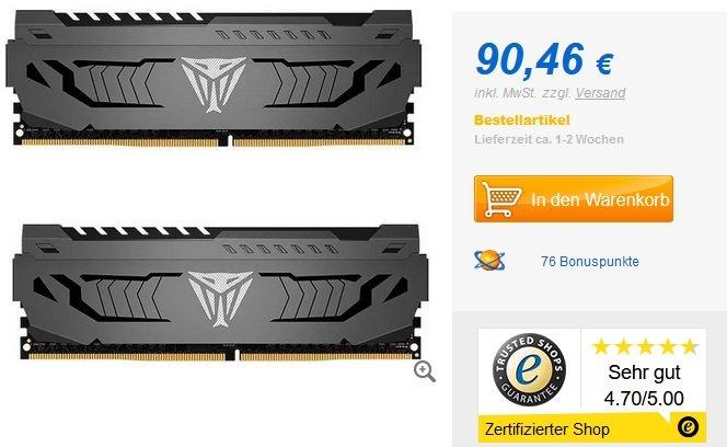 Patriot Viper Steel 32GB DDR4 RAM Kit