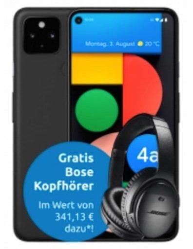 Google Pixel 4a mit 5G + Bose QC 35 II (4,99€) + Klarmobil Allnet & SMS Flat mit 5GB LTE (21,6 Mbit) für 24,99€ mtl.