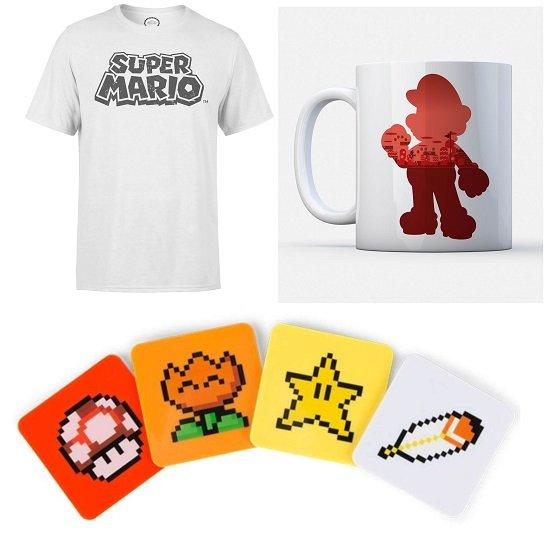 Nintendo T-Shirt + Nintendo Tasse + Super Mario Power Up Untersetzer für 19,48€