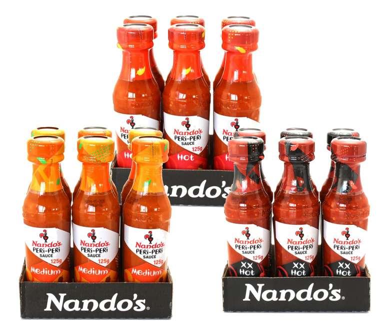18er Pack Nando's Peri Peri Sauce (18x 125g) für 8,88€ (statt 27€)