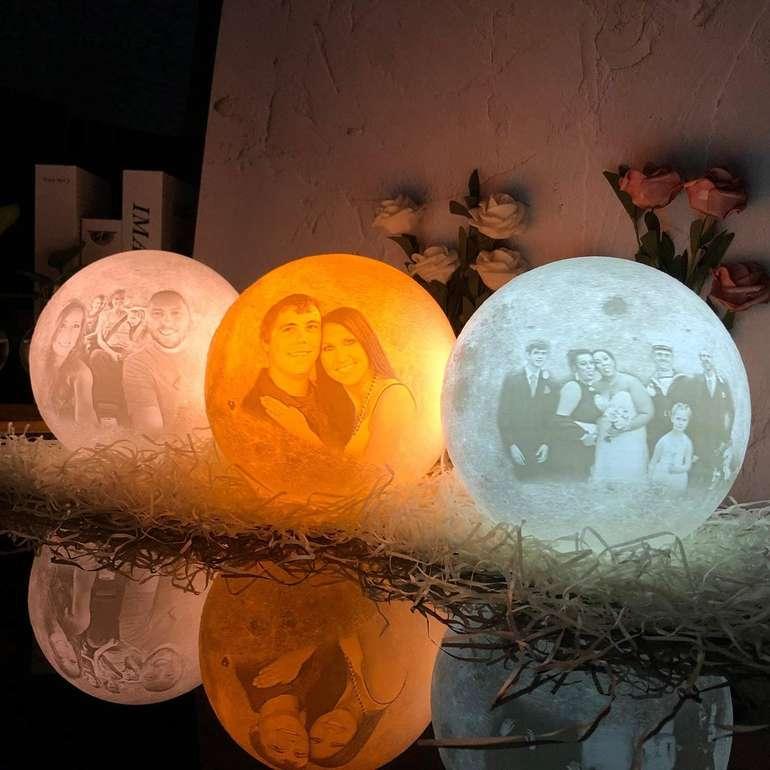 Gahaya Mond Lampe mit eigenem Foto + Text ab 10,40€ inkl. Versand (statt 17€)