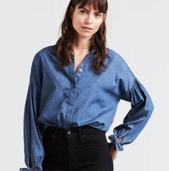 Levi's Damen & Herren Sale mit bis zu -67% Rabatt, z.B. Jeans-Bluse für 24,99€