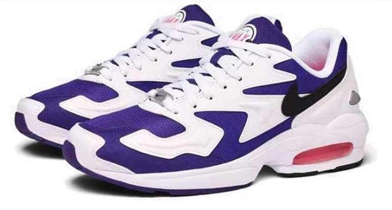 """Nike Air Max 2 Light Sneaker im """"White Black Court Purple Hyper"""" Colourway für 53,90€ (statt 70€)"""