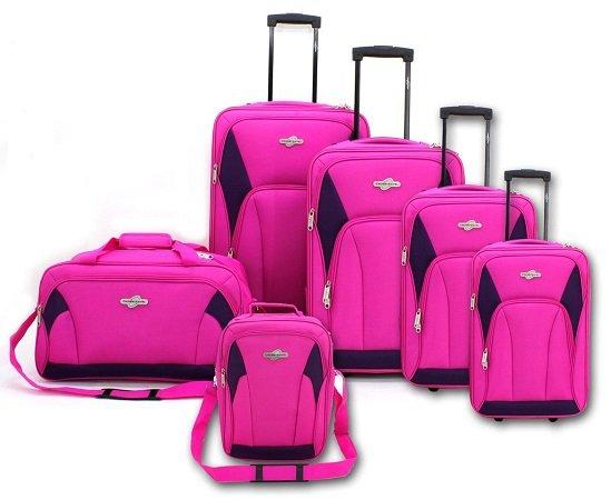 6-teiliges Kofferset in Rosa für nur 39,90€ inkl. Versand