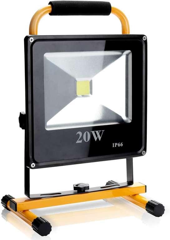 Verschiedene Hengda kaltweiße LED Akku Strahler reduziert, z.B. 20W für 16,09€