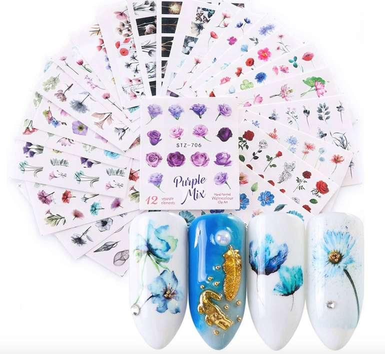 24er Pack Kapmore Nagelsticker (Nail Art Sticker) für 1,24€ inkl. Prime Versand