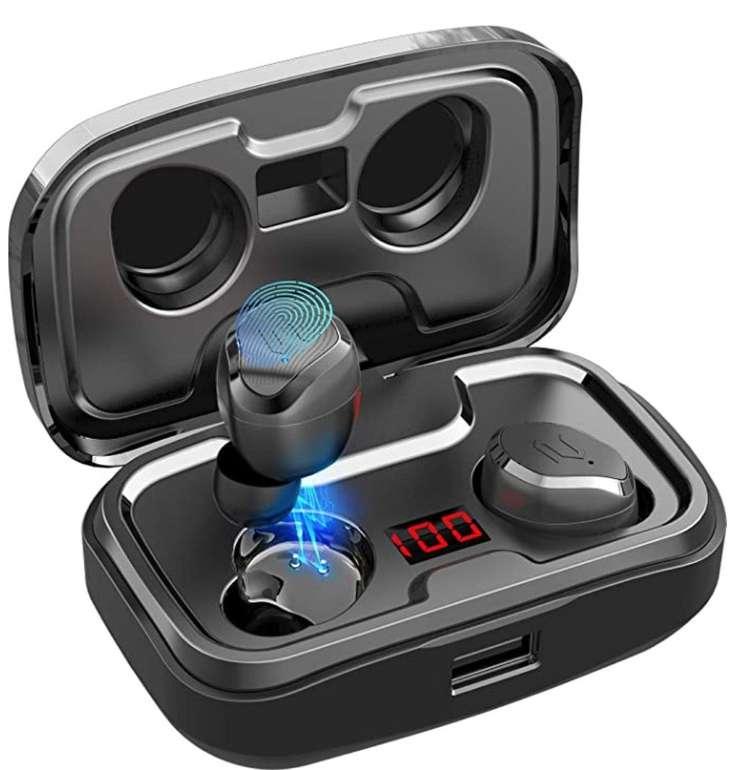 Aikela Bluetooth In Ear Kopfhörer mit Mikrofon, IPX7-Schutz und Ladehülle für 23,99€ (statt 40€)