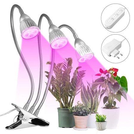 MOHOO - 15W Pflanzenlampe (3 flexiblen Armen) für 17,39€ mit Prime