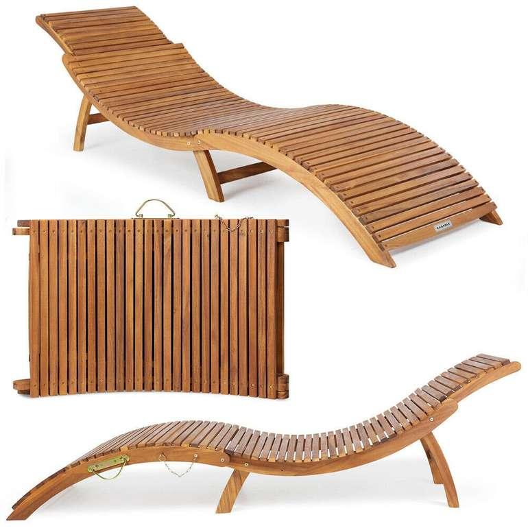 Casaria Sonnenliege  aus FSC®-zertifiziertem Akazienholz (faltbar, Kofferfunktion) für 80,95€ inkl. Versand (statt 95€)
