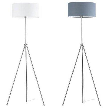 Schicke Stehlampe mit einem weißen oder grauen Lampenschirm für 16,94€ inkl. VSK