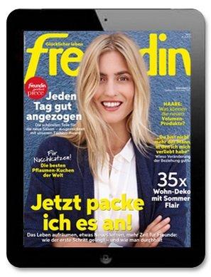 """Gratis: 26 Ausgaben der """"freundin"""" als E-Paper komplett kostenlos (Statt 48€)"""