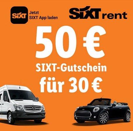 50€ Sixt Gutschein für nur 30€ bei LIDL kaufen (Buchungen bis 15.12.2019)