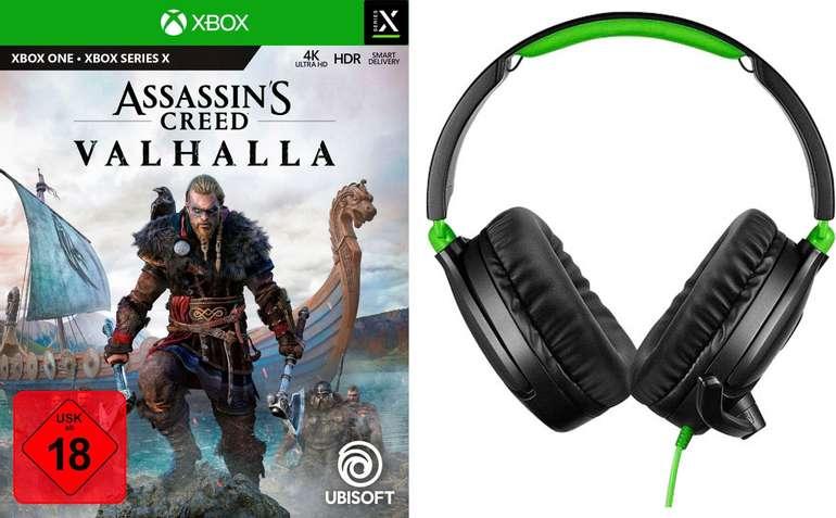 Assassin's Creed Valhalla (Xbox One, PS4) + Gaming-Headset Turtle Beach 70P für 74,95€ inkl. Versand (statt 84€)