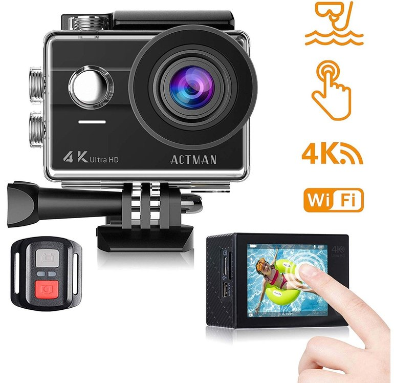 4K Action Cam von Actman, 170° Winkel, wasserdicht, Touchscreen 40,99€ inkl. VSK