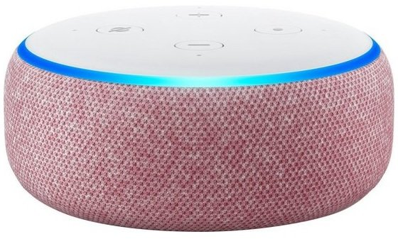 Amazon Echo Dot (3. Generation) Lila Stoff für 35,94€ inkl. Versand (statt 42€)