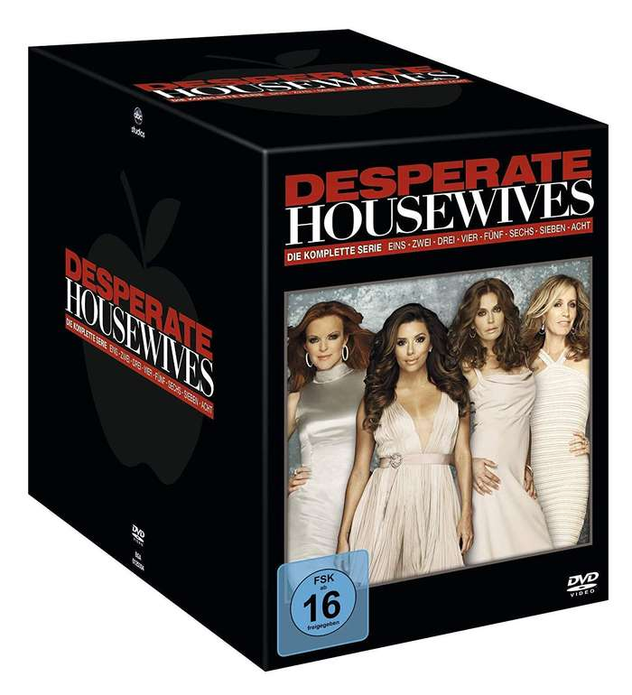 Desperate Housewives - Die komplette Serie (49 DVDs) für 40,16€ inkl. Versand (statt 65€)