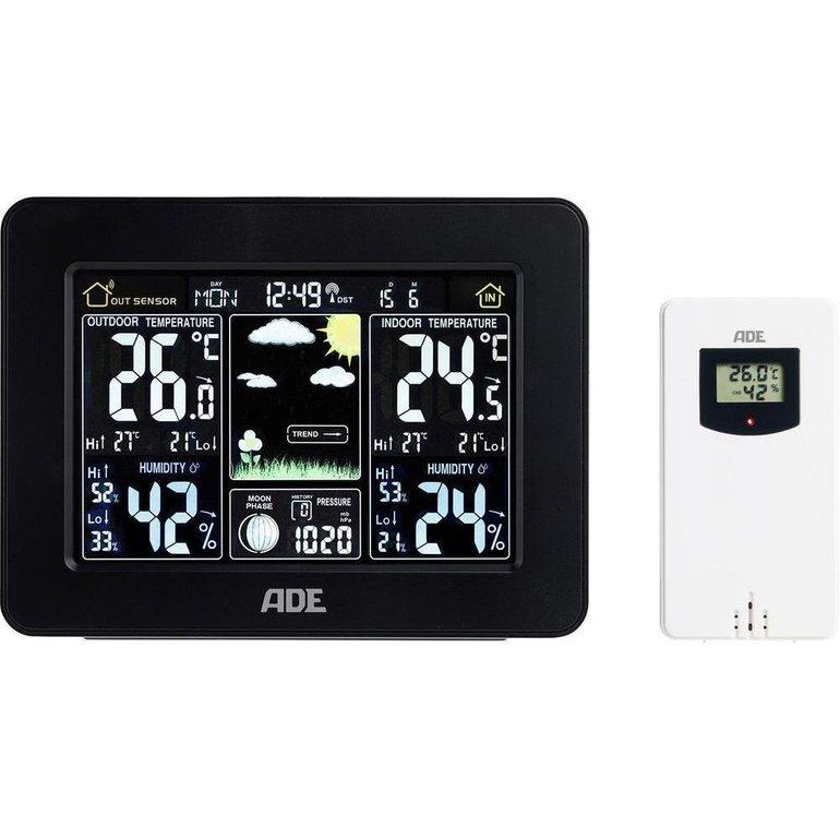 ADE WS 1503 Funk-Wetterstation mit Außensensor für 22€ (statt 40€)