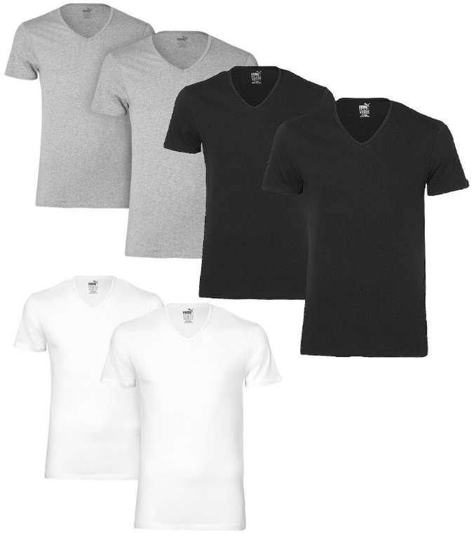 2er Pack Puma V-Neck Basic T-Shirt in drei Farben für 15,99€ inkl. Versand (statt 20€)
