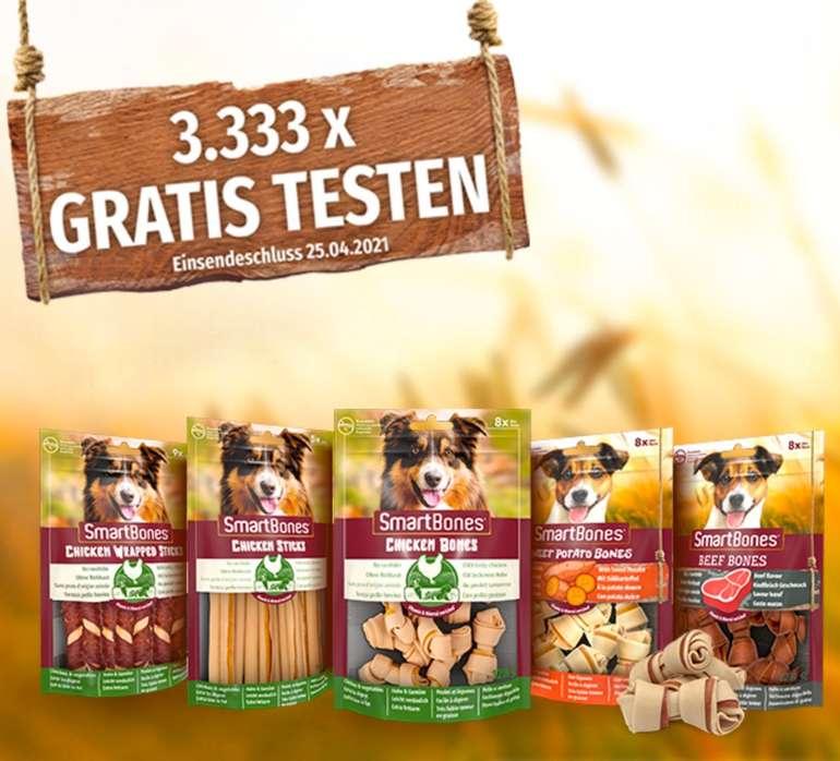 SmartBones Hundefutter/-Snacks kostenlos testen dank Geld-zurück-Garantie (GzG)