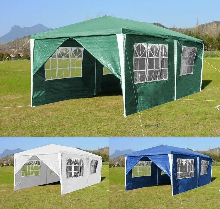 Vingo 3 x 6m Pavillon mit Seitenteilen in 3 Farben für je 37,49€ inkl. Versand (statt 46€)