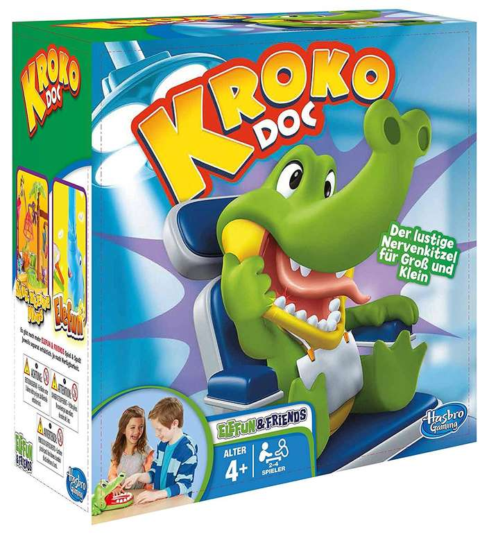 Hasbro Gaming Kroko Doc B0408100 für 7,99€ inkl. Primeversand (statt 15€)