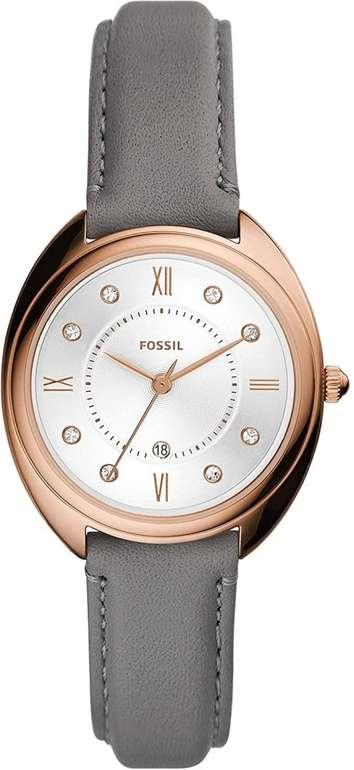 Fossil Damen Uhr Gabby (3-Zeiger-Werk, Lederarmband) für 76,30€ (statt 100€)