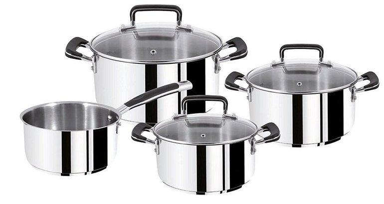 7-tlg. Tefal E97790 Gourmet Series Topf-Set (induktionsgeeignet) für 79,90€